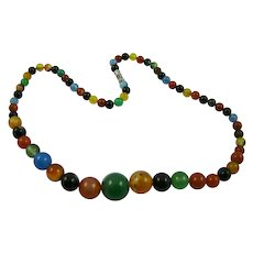 Multicolored Agate Necklace