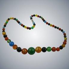 Multicolored Agate Necklace