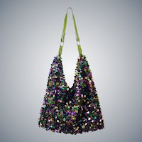 Sequined Evening Shoulder Bag