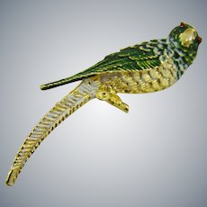 Gerry's Pretty Green Parrot Brooch