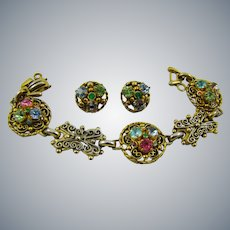 Barclay Rhinestone Bracelet and Earrings
