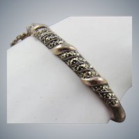 Sterling and Marcasite Bangle Bracelet