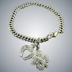 Swarovski Crystal Good Luck Charm Bracelet