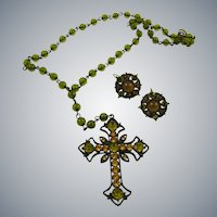 Necklace and Earring Set feautring Large Cross
