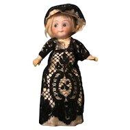 Rare Bisque Head Googly-Eyed Doll