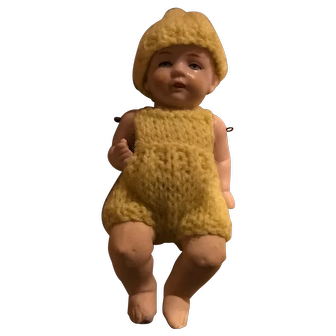 All Bisque Baby Boy Doll