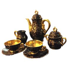 Beautiful Tea/Coffee Set-  marked Echt Kobalt