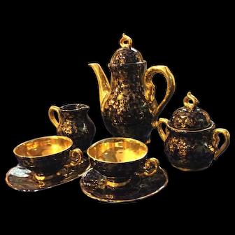 Beautiful Tea/Coffee Set-  marked Echt Kobalt