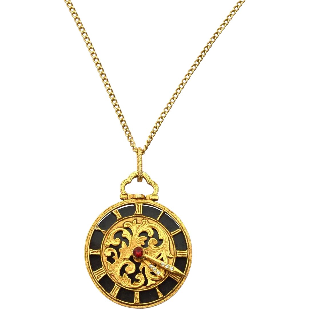 clock antique dolce necklace asheville vita chic products gold
