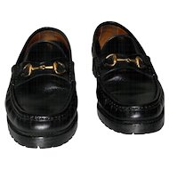 Vintage Gucci Horsebit Loafers from Italy Size 8.5 AA