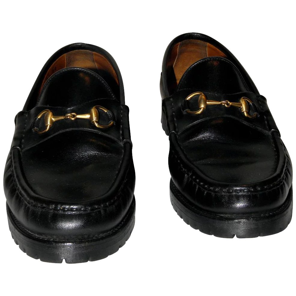 7a4e59a0 Vintage Gucci Horsebit Loafers from Italy Size 8.5 AA
