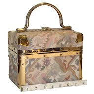 1960's DeLill Tapestry Train Box Handbag from Italy