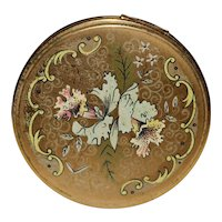 1930's Floral Loose Powder Compact