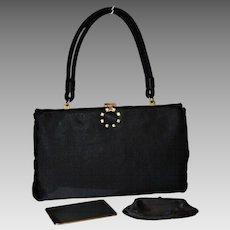 1950's Ingber Satin Framed Convertible Evening Bag  15% OFF