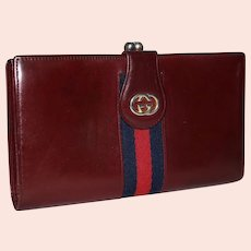 Vintage Gucci Kiss-Snap Clutch Wallet