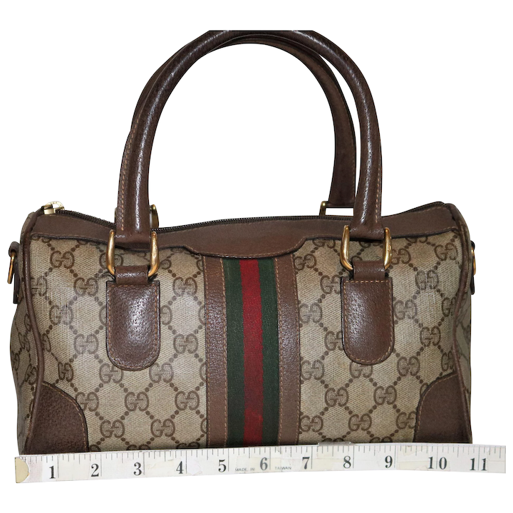 d3fe72562ae4 Vintage Gucci Boston Bag Rare Medium Model : NengHetty | Ruby Lane