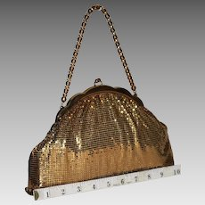 1950's Whiting and Davis Gold Mesh Puffy Flapper