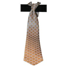 Brioni Geometric Macro Design Silk Tie from Italy