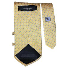 Vintage Burberry Cross-Patterned Silk Tie from Italy