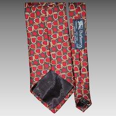 Burberry Horsebit Optic Silk Tie from England