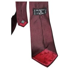 La Scala Burgundy Silk Skinny Tie from Italy