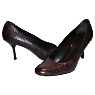 Vintage Gucci Guccissimo Pumps Sz 9B from Italy