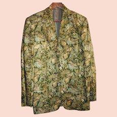 Vintage Genuine Batik Men's Jacket Size Medium from Indonesia