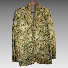 Vintage Genuine Batik Men's Jacket Size Medium from Indonesia