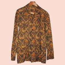 Vintage Genuine Batik Men's Shirt Size Medium from Indonesia