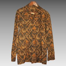 Vintage Genuine Batik Men's Shirt Size Medium from Indonesia