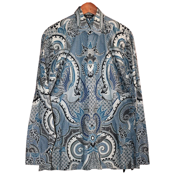 new product 0cec7 cff4f Vintage Genuine Batik Men's Shirt Size 16 Large from Indonesia