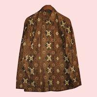 Vintage Genuine Batik Men's Shirt Size 16 Large from Indonesia
