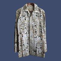 Vintage Genuine Balinese Batik Men's Shirt Size Medium from Indonesia