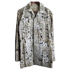 Vintage Genuine Balinese Batik Men's Shirt Size Medium from Indonesia