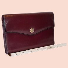 Vintage Bosca Tri-Fold Multifunction Clutch Wallet