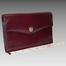 Vintage Bosca Tri-Fold Multifunction Clutch Wallet