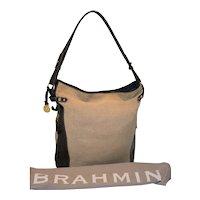 Vintage Brahmin Melbourne Raffia Tote