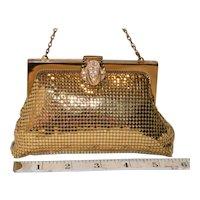 Vintage Whiting & Davis Flapper Gold Mesh Evening Bag