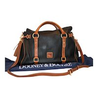 Vintage Dooney & Bourke Pebbled Grain Medium Satchel