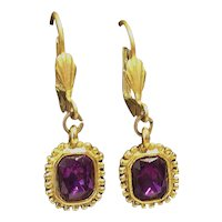 Vintage Trifari Lever-Back Earrings