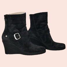 UGG Gissella Wedge Suede Sheepskin Boots