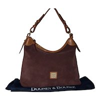 Vintage Dooney & Bourke Suede Hobo