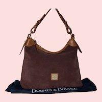 Vintage Dooney & Bourke Suede Hobo