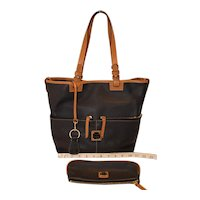 Vintage Dooney & Bourke Pebble Leather Convertible Shopper Tote