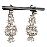 1950's Hattie Carnegie Austrian Crystal Chandelier Earrings