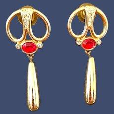 Vintage Pierced Dangle Earrings