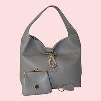 Vintage Dooney & Burke Logo Lock Shoulder Bag