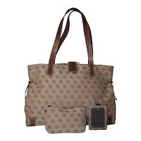 Vintage Dooney & Bourke Anniversary Signature Medium Tote
