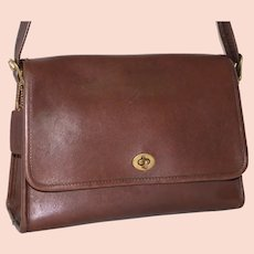1970s Vintage Coach Spectator Bag