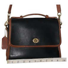 Vintage Coach Court Bag in Spectator Trim